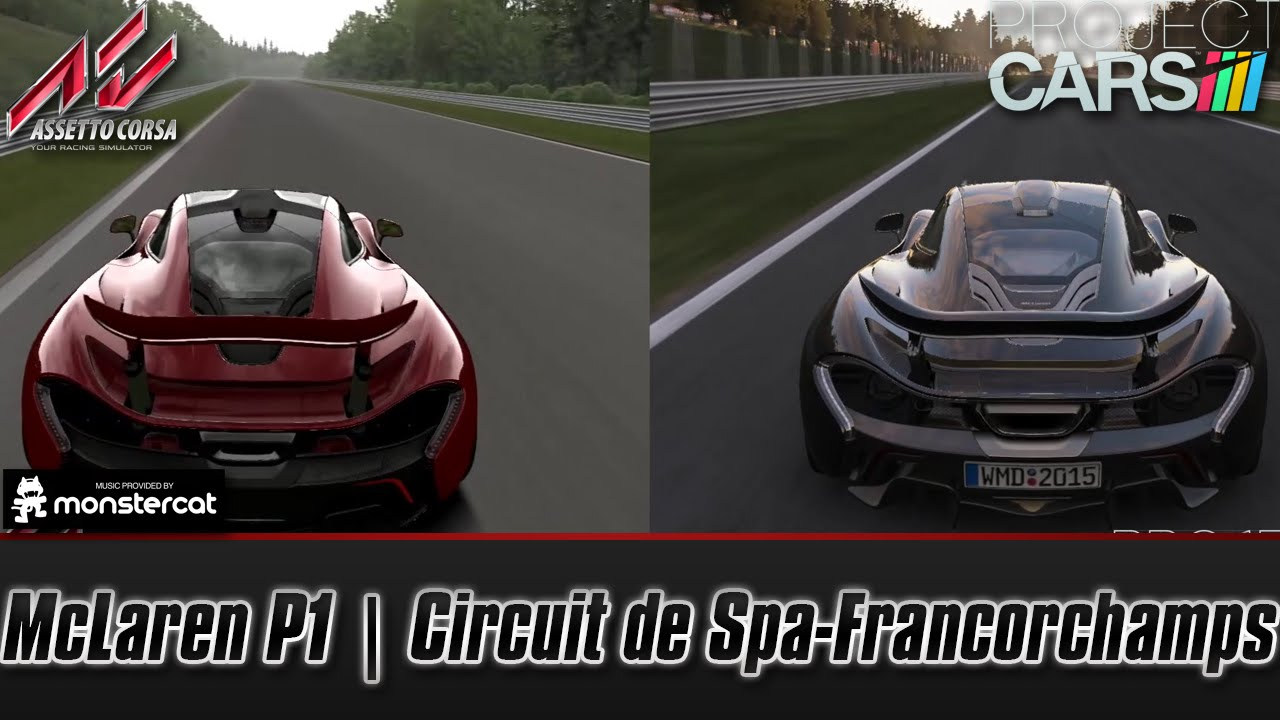 Assetto corsa vs project cars mclaren p1 circuit de - Project cars mclaren p1 ...