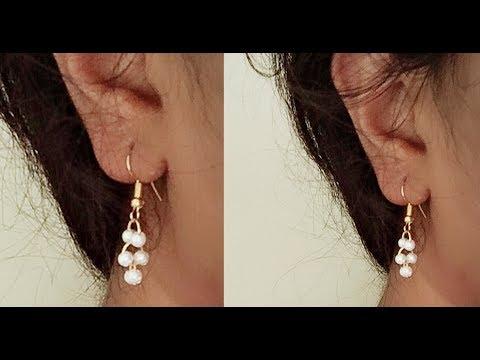 How to make simple pearl earrings