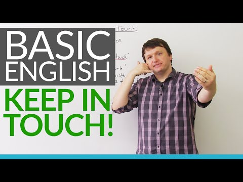 English for Beginners: Keep in touch!