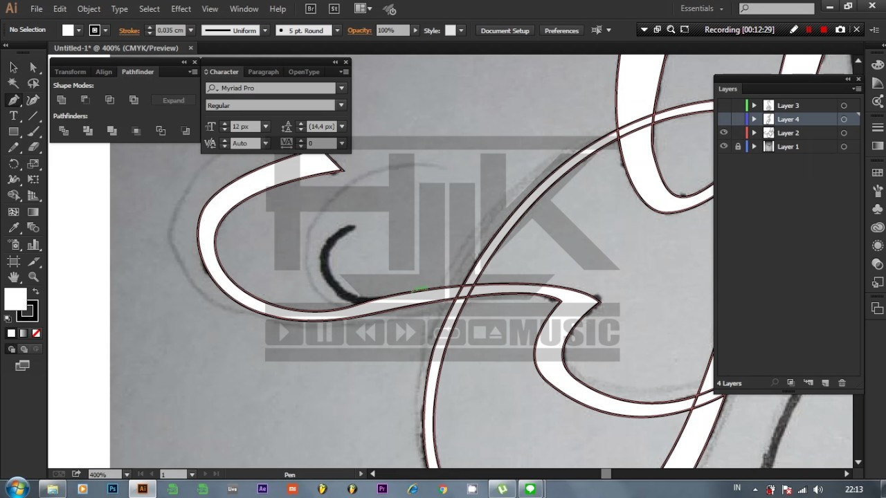 how to make a font in illustrator