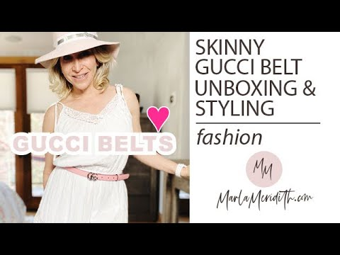 Skinny GG Gucci Belt Unboxing & 5 FUN Ways to Style It Up!