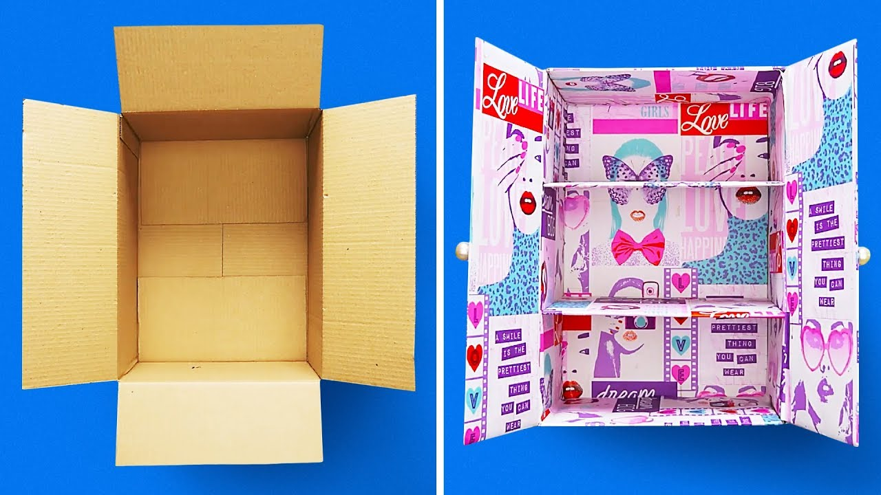 29 Cardboard Boxes Crafts Youtube