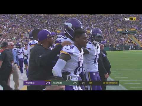 Vikings Tie The Packers In Overtime With A Missed Field Goal By Carlson