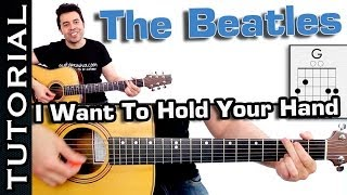 como Tocar I Want To Hold Your Hand - THE BEATLES guitarra acordes tutorial facil principiantes