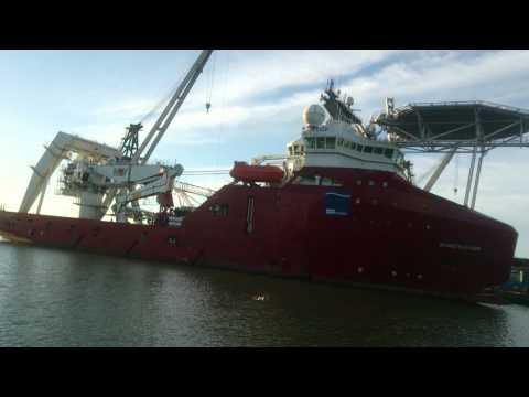 Skandi Skansen at berth in Port of Frederikshavn
