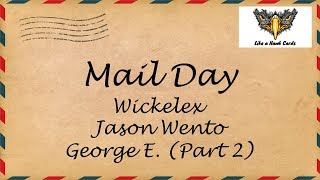Mail Day - Cubs, Cowboys, and Bears, Oh My!  Wickelex, Jason Wento, George E.