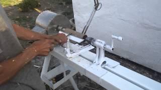 токарный станок по дереву своими руками(токарный станок по дереву своими руками, из стиральной машинки., 2014-05-15T18:40:57.000Z)