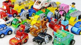 블럭 자동차는 모여라 치치랜드 시티랜드 맥퀸 듀플로 스모네오 듀플로 다양한 자동차로 변신해 보아요