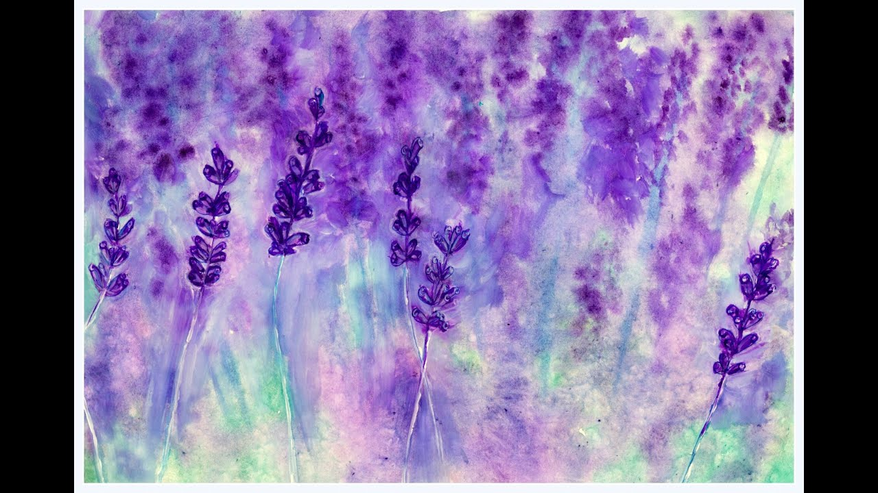 lavender painting - photo #11