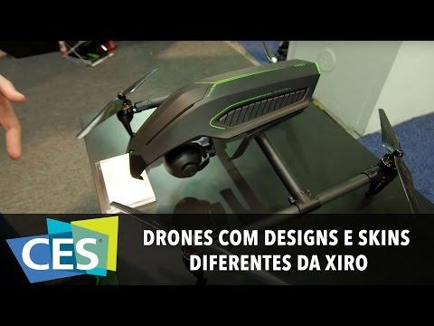 DRONES COM DESIGNS E SKINS DIFERENTES DA XIRO #CES2016