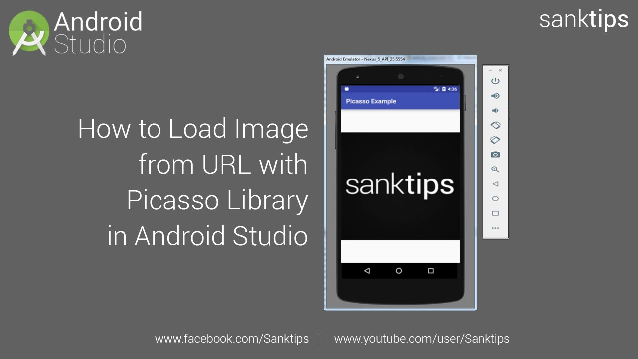 How to Load Image from URL with Picasso Library in Android Studio | Sanktips