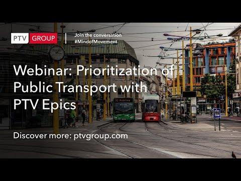 Webinar: Prioritization of Public Transport with PTV Epics