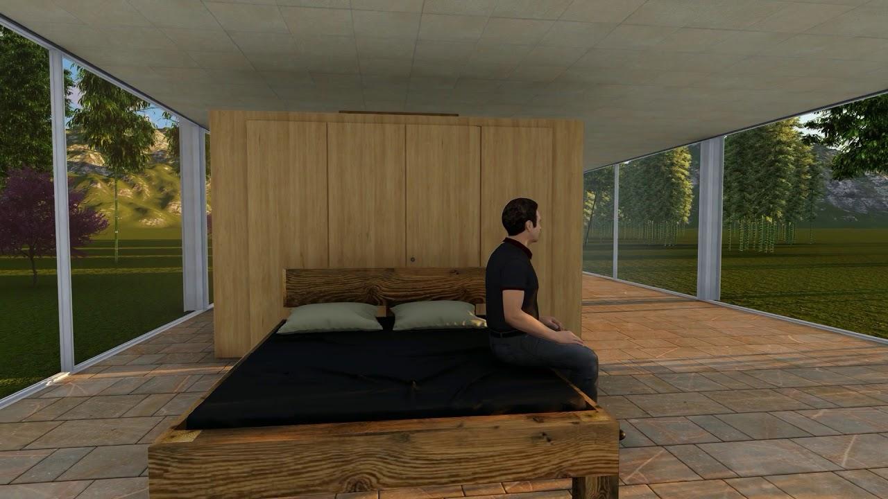 Balkenbett altholz  bett aus Altholz - YouTube