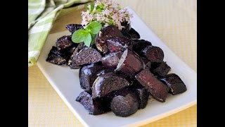 Low Fat Vegan No Oil Baked Beets Greek Style