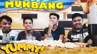 (MUKBANG) Milk tea + Fries and etc ft. classmates