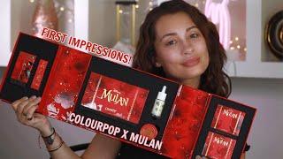 COLOURPOP X MULAN COLLECTION REVIEW
