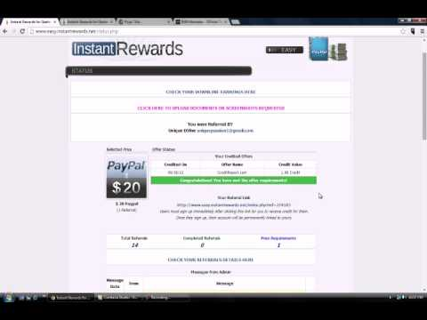 Instant Rewards Review : Free Cash Daily $40-$100 Paypal Cash