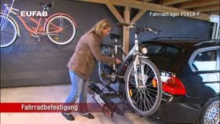 EUFAB Fahrradträger Kupplungsträger Poker-F klappbar, für 2 Räder