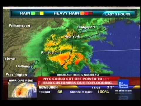 Hurricane Irene Coverage on The Weather Channel- 8/27/11 11:00 PM EDT