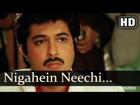 Nigahein Neechi Kiye Sar - Laila Songs - Anil Kapoor - Poonam Dhillon - Lata Mangeshkar