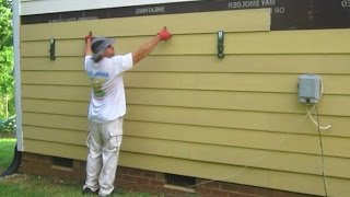 Use Gecko Gauge Clamps to install James Hardie Fiber Cement Siding by yourself one man How to Cut