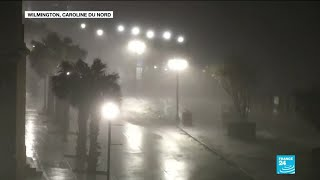 L''ouragan Florence touche terre en Caroline du Nord