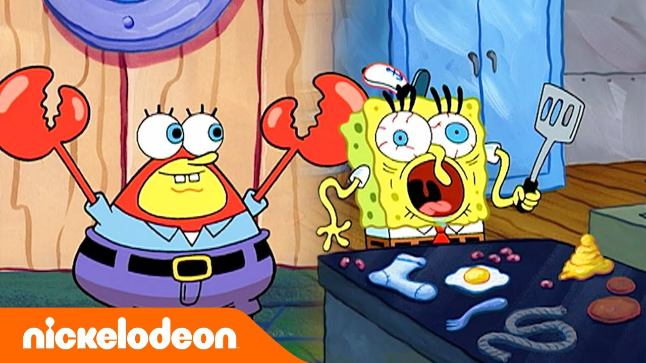 Губка Боб Квадратные Штаны   Ужас крабсбургера   Nickelodeon Россия
