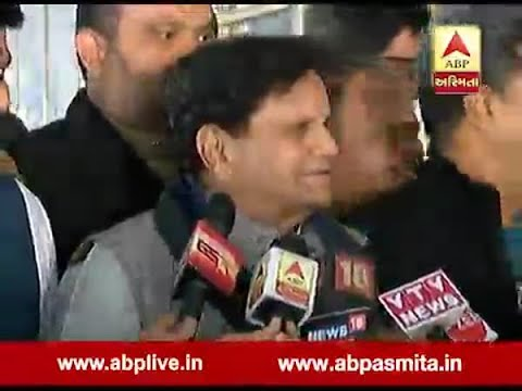 Senior Congress leader Ahmed Patel talk with reporters