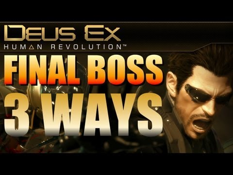 Deus Ex Human Revolution - Part 84 - 3 Ways to Defeat the Hyron Project - Final Boss Fight!
