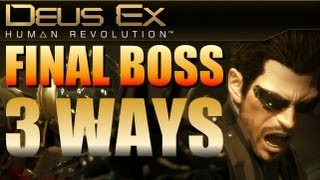 Here are three ways to defeat the Hyron Project the final boss fight in Deus Ex Human Revolution The first uses the Hugh Darrow access code for the master