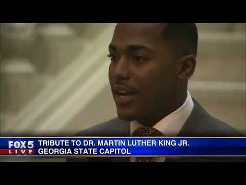 Tribute to Dr. Martin Luther King, Jr. at Georgia Capitol