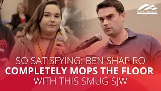 SO SATISFYING: Shapiro completely mops the floor with this smug SJW