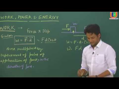 IIT JEE: Physics Online Video lectures-Introduction of Work Power Energy,Force Variable By NKC Sir