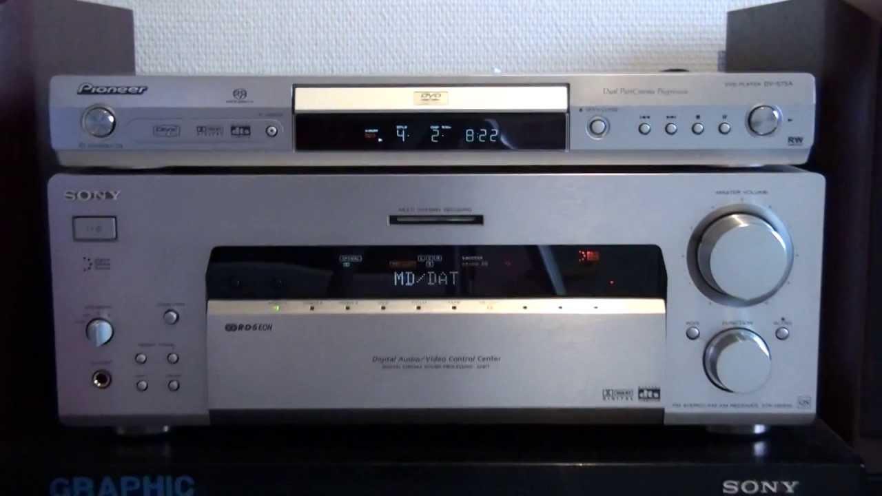 Pioneer Stereo Receiver >> PIONEER DV-575A & SONY STR-DB930QS - YouTube