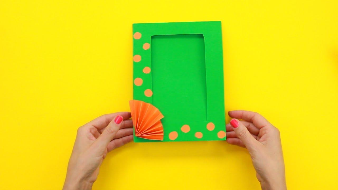 Как сделать прикольную фото рамку своими руками за 5 минут ...