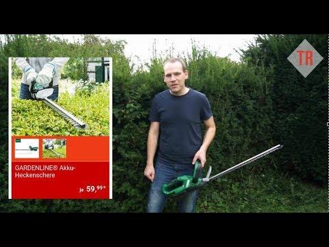 Aldi akku heckenschere gardenline einhell im test review youtube