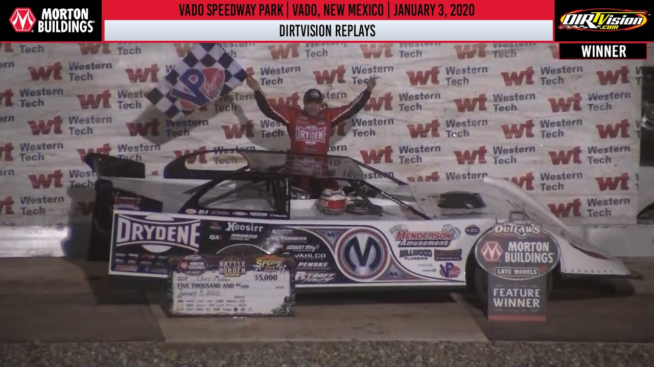 DIRTVISION REPLAYS | Vado Speedway Park January 3rd, 2020