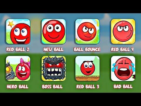 Играем во все игры про Красный Шарик - Red Ball 3 , 4 , Hero Ball , Bounce Ball , Ball Adventure .
