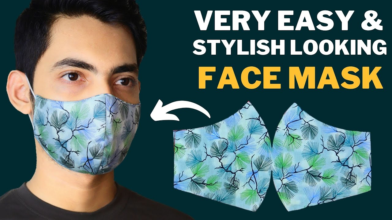 😷Very Easy New Style Pattern Face Mask | Stylish Looking Mask | Face Mask Sewing Tutorial At Home