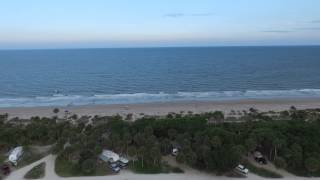 Aerial Over Edisto Beach State Park Campground with Flying Camera