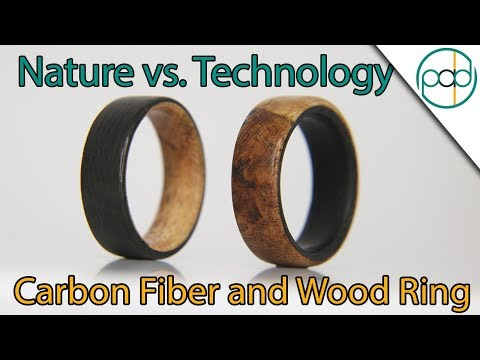 Technology Vs. Nature: Making a Carbon Fiber and Wood Ring