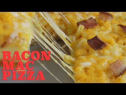 Bacon Macaroni and Cheese Pizza