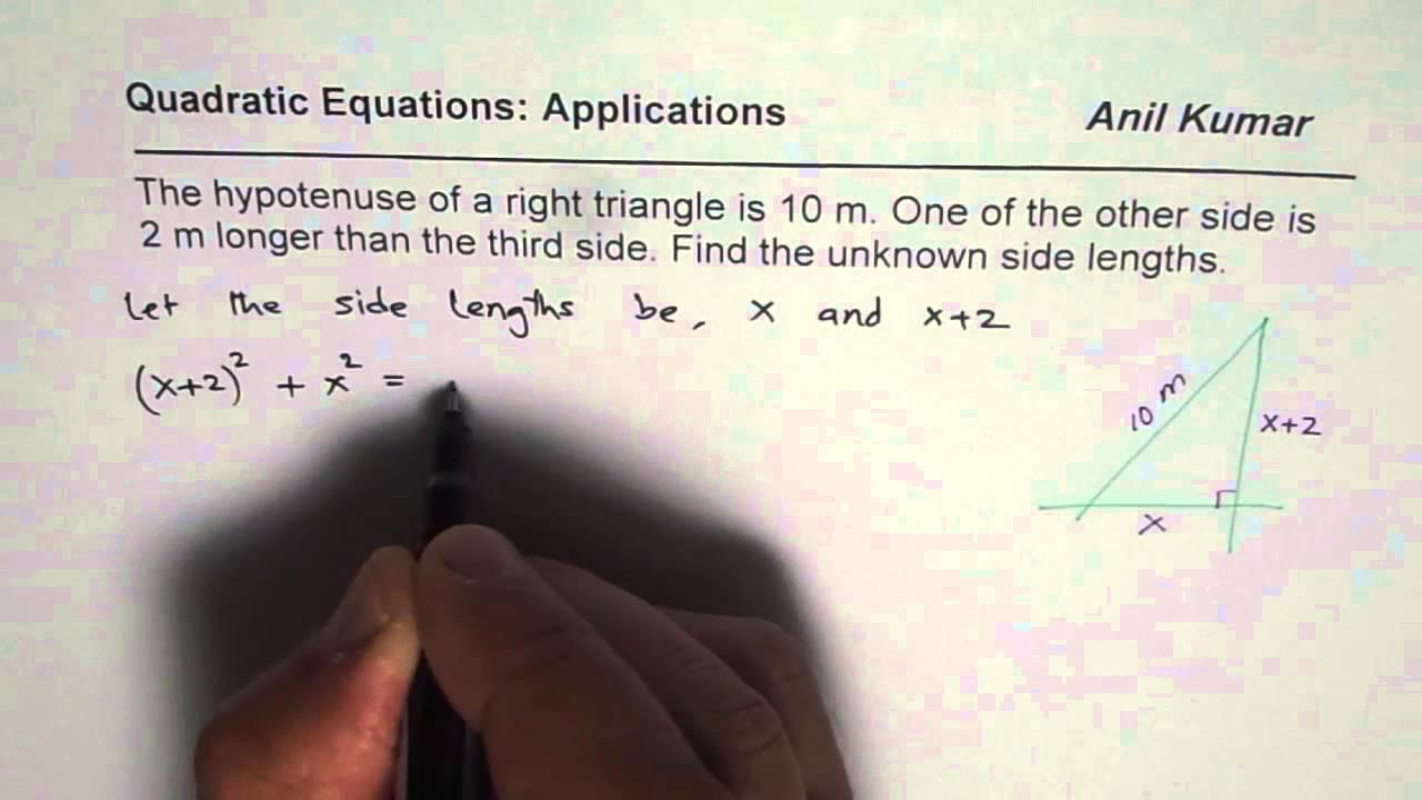 how to find sides of a triangle given hypotenuse