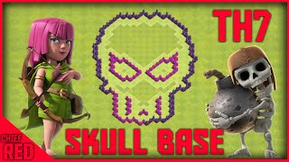 "Clash of Clans - Th7 ""Skull"" Base - AWSOME TH7 SKULL BASE!! (V2)"
