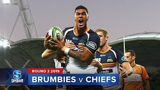 HIGHLIGHTS: 2019 Super Rugby Round 2 Brumbies v Chiefs