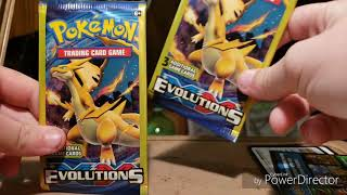 3 CARD POKEMON XY EVOLUTIONS BOOSTER PACKS!!!