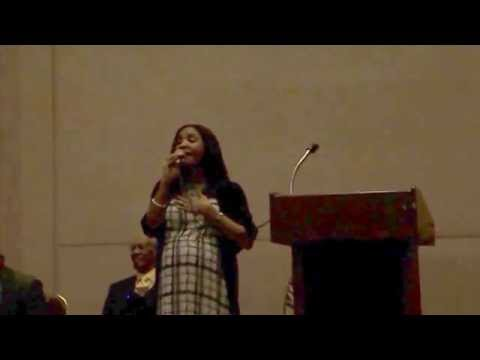 Natalie Foreman sings tribute during NAACP Houston Branch 2015 Instillation Ceremony
