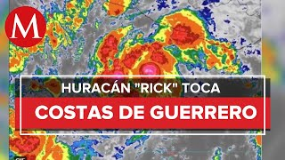 'Rick' toca tierra en Guerrero como huracán categoría 2