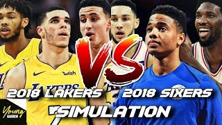 WHICH TEAM WILL BE BETTER IN 5 YEARS? SIXERS VS. LAKERS SUPER-TEAM SIMULATION ON NBA 2K18!!