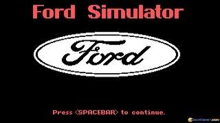 Ford Simulator 1 gameplay (PC Game, 1987)